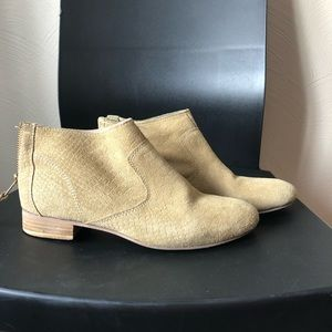 seychelles tan suede ankle boot